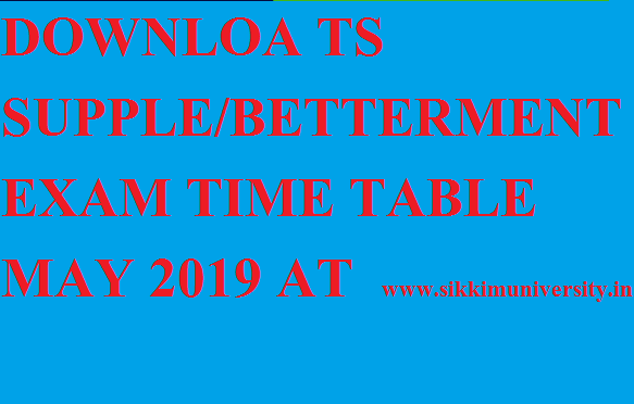 TS Inter Ist, 2nd Year Supplementary Betterment Exam Time Table 2020 1