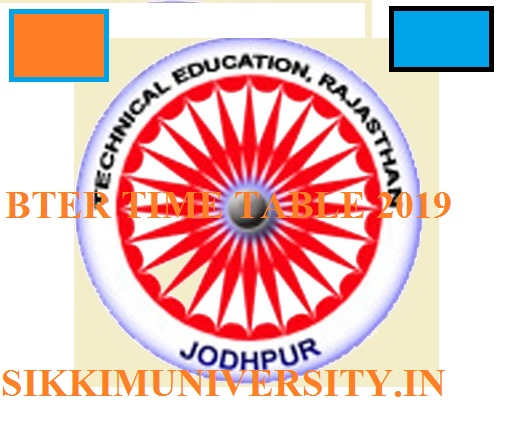BTER Polytechnic Semester Time Table 2021 Part I, II, III Year at techedu.rajasthan.gov.in 1