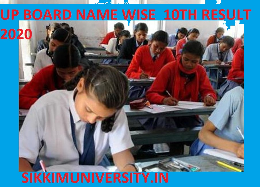 UP Board Name Wise Result 10th कक्षा Exam 2020 Check www.upresults.nic.in 1