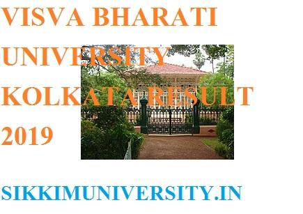 Visva Bharati University Ist, 2nd, 3rd Year Result 2019 BA BCOM BSC MA MCOM MSC 1