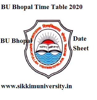 BU Bhopal Time Table 2020 BCA BBA BSC BCOM BA Schedule Bubhopal.ac.in 1