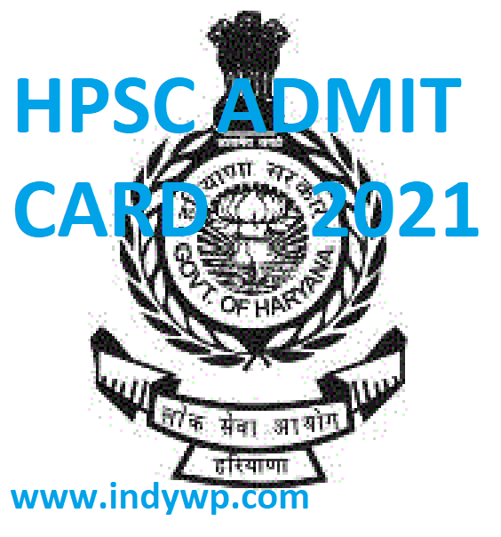 Haryana PSC Asst. Prof. Admit Card 2021 Exam Hall Ticket & Date at www.hpsc.gov.in 1