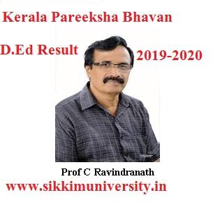 Keralapareekshabhavan D.Ed Results 2020-2021 Odd/Even Sem. D.EI.Ed Result Date 1