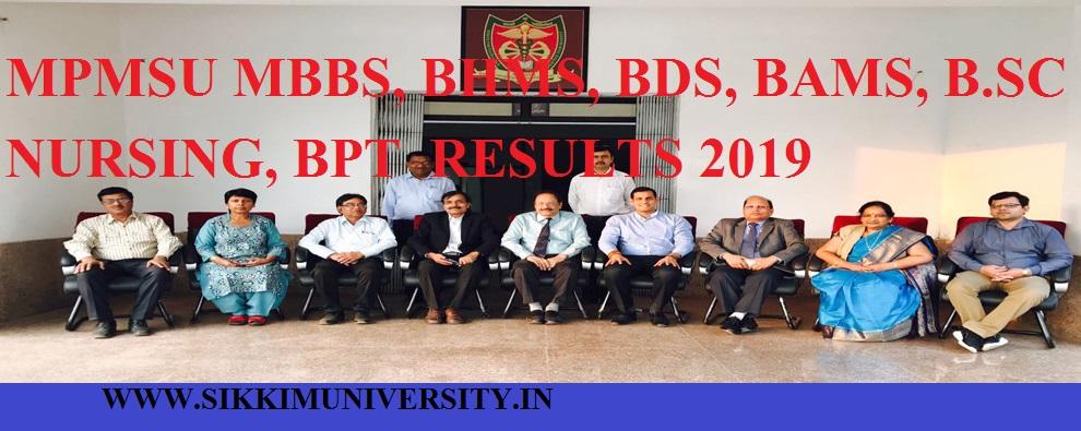 Madhya Pradesh Medical Science University BHMS, BPT, BDS, MBBS, BAMS Result April 2019 1