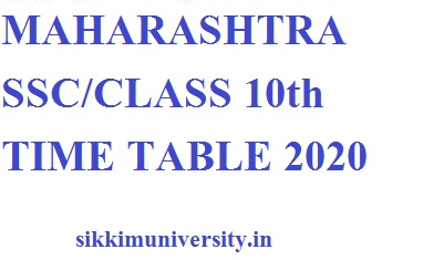 Maharashtra Board 10th Class Exam 2020; MAHA Board Date sheet Released, Check Here 2