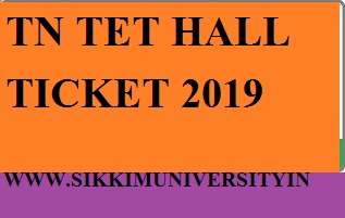 TNTET Hall Tickets 2019 Released Download TNTET Admit Card From Trb.tn.nic.in 1