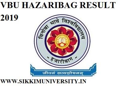 VBU Hazaribagh Results 2020 For Part I,II,III BA BSC BCOM MA Sem Exam at @vbu.ac.in 2