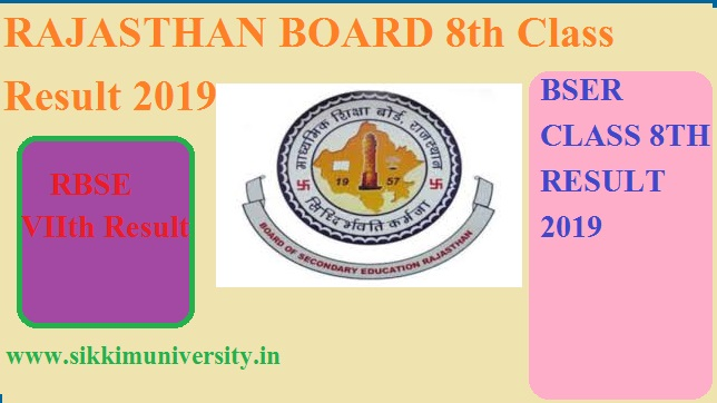Rajasthan Board 8 Class Result 2020: RBSE आठवीं रिजल्ट Date & Download Link 1