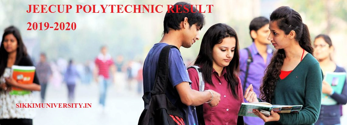 JEECUP Gr. A Result 2019-2020 Group B to K Polytechnic Entrance Result Date 1