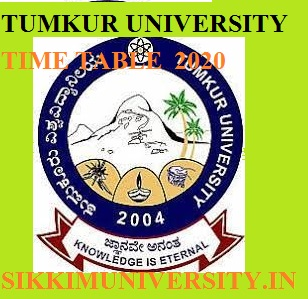 Tumkur University Time Table 2020 Date Sheet UG & PG Exam Schedule/Scheme 1