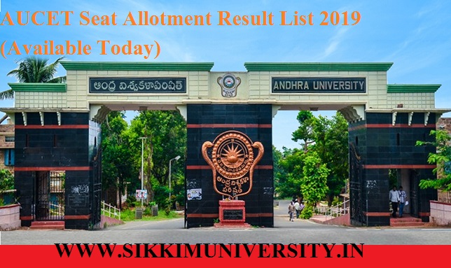 AUCET Seat Allotment Result List 2019-20 (Available) - Andhra University AUEET/CET Allotment list at auvspdoa.in 1