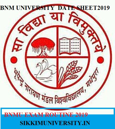 BNMU Ist, 2nd, 3rd Year Routine 2019-20 Download BSC BA BCOM Exam Time Table/Date Sheet 1