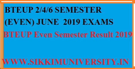 BTEUP Even Semester Result 2019: UP Polytechnic June Semester Results at bteupexam.in 1