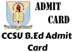 CCSU-B.Ed-Admit-Card-2019