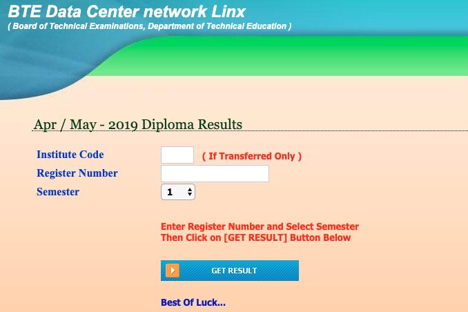 DTE Karnataka Diploma Results