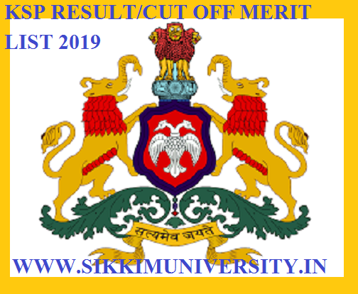 KSP Jail Warder Result/Cut Off/Merit List 2019