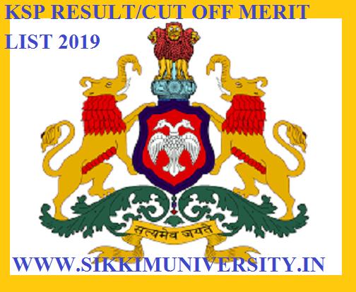 KSP Jail Warder Result/Cut Off/Merit List 2019