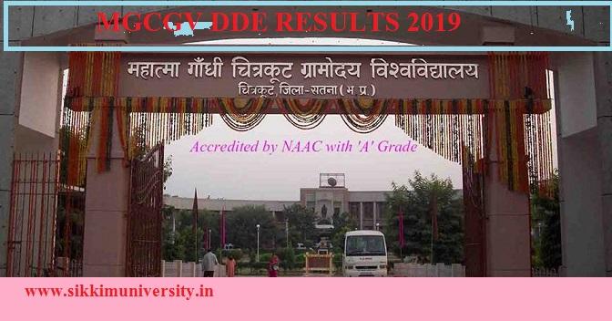 MGCGV DDE Results 2019-20 - MGCGV Distance Education Part I, II, III BA MA BSC BCOM Result 2020 1