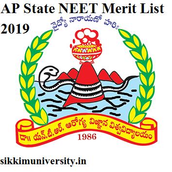 AP Released State NEET Merit List 2020 - Ntruhs.ap.nic.in MBBS BDS Merit List 2020 Category Wise 1
