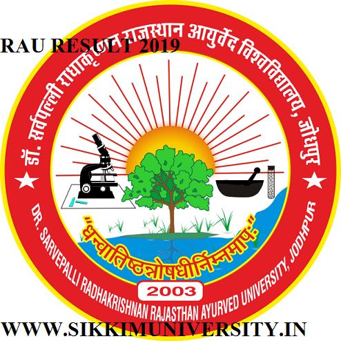 Rajasthan Ayurved University Sem/Annual Result 2019- RAU Ist, 2nd, 3rd B.Sc Nursing MD MS Ph.D BAMS 1