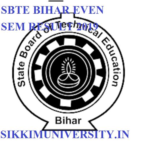 SBTE Bihar Even Sem. Results 2021 - SBTE Bihar 2/4th/6th Sem. Result 2020 sbteonline.in 1