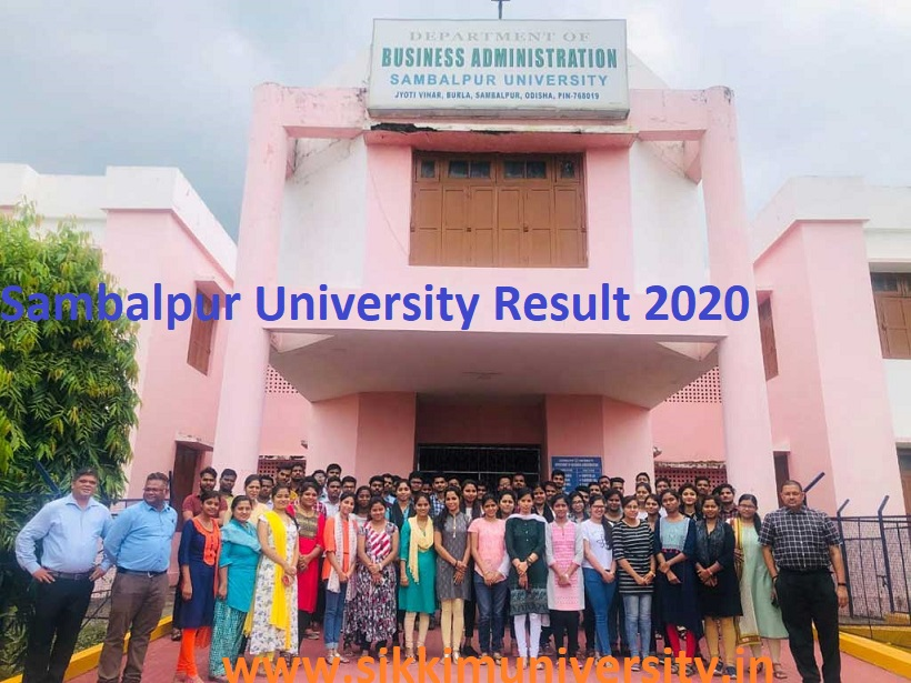Sambalpur University 1/3/5/7 Sem Result 2020 +3 Part I, II, III year  @suniv.ac.in 2