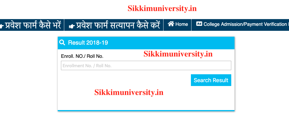 Sarguja University Result May 2019 Part I, II, III Year