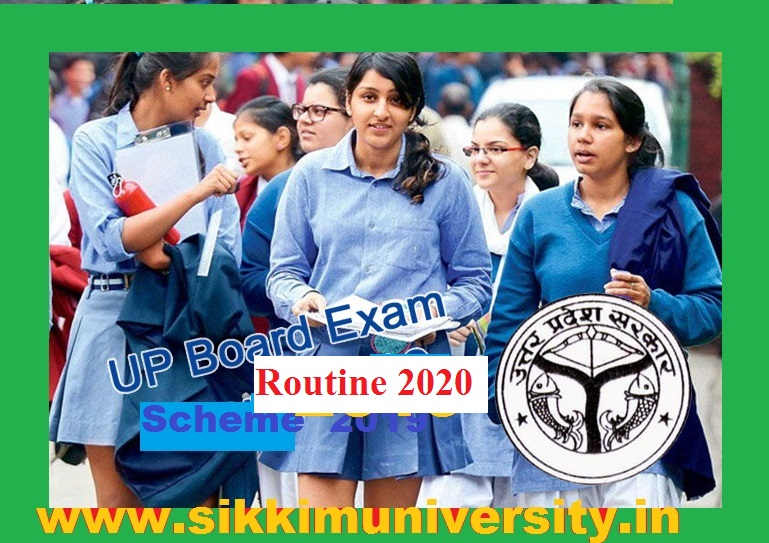 UP  High School Exam Scheme 2020,  UP Board 10th Time Table 2020, UP Board Matric Date sheet 2020 1