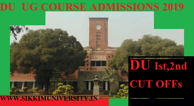 DU 2nd Cut Off 4 July 2021- Check Delhi University Colleges Cut Off Ist, 2nd and Other 1