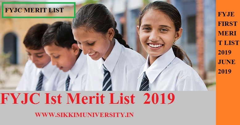FYJC First Merit (मेरिट) List 2019 SESD First Year Jr. College Allotment 11th Class Admission list 1