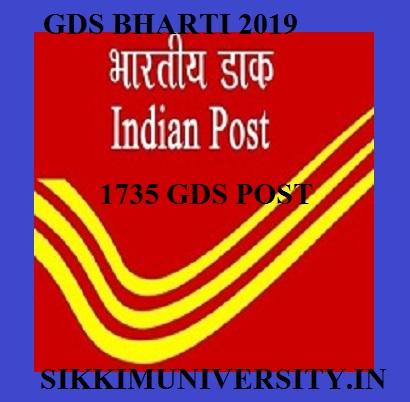 Postal Recruitment 2019-2020 for 1735 Gramin Dak Sevak Apply Online @appost.in 1