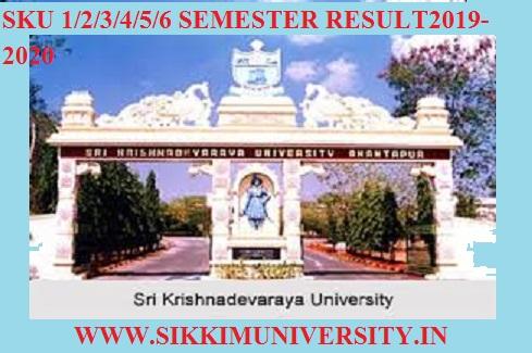 SKU Degree Results 2019-20 Semester - Manabadi UG BSC BA BCOM Result at skugexams.in 1