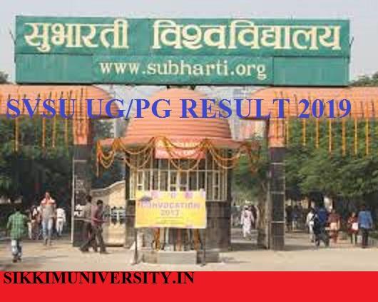 Subharti University Ist, 2nd, 3rd year Result 2021 SVSU BCom BA B.Sc DDE Result Date 1