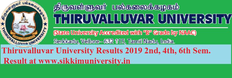 Thiruvalluvar University Results 2021 2nd, 4th, 6th Sem. BA BSC BCOM MA MSC Exam 1