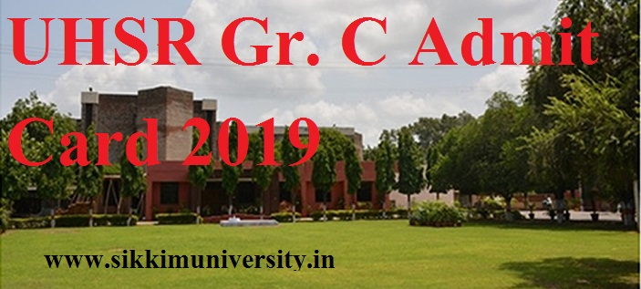 UHSR: Pt. BDS University of Health Sciences Gr C Admit Card 2020 Check Nurse Exam Date 1