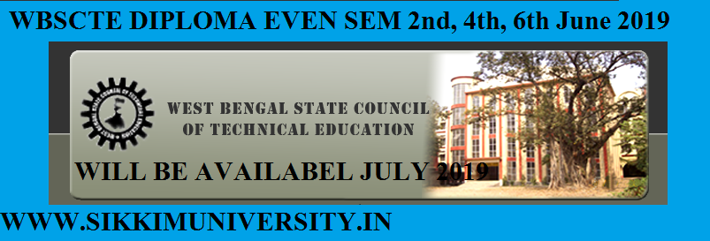 WBSCTE Diploma Results June 2021 II, IV, VI Sem Exam Result Available in July 1