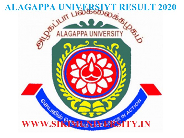 Alagappa University Result 2021 Ist, 2nd 3rd Year Latest BA BSC BCOM Exam Result 1