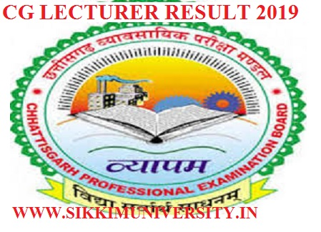 CG Vyapam 3177 Lecturer Results 2019- SELA19 / SELE19 Merit List- Cut Off Marks 1