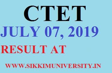 CTET Result July 07, 2019: CTET Level 1&2 Merit List Download @ctet.nic.in 1