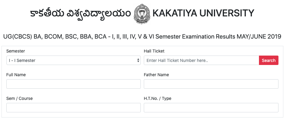 KU Degree Result 2019 Even Sem 2nd/4th/6th PG/UG Exam Kakatiya University