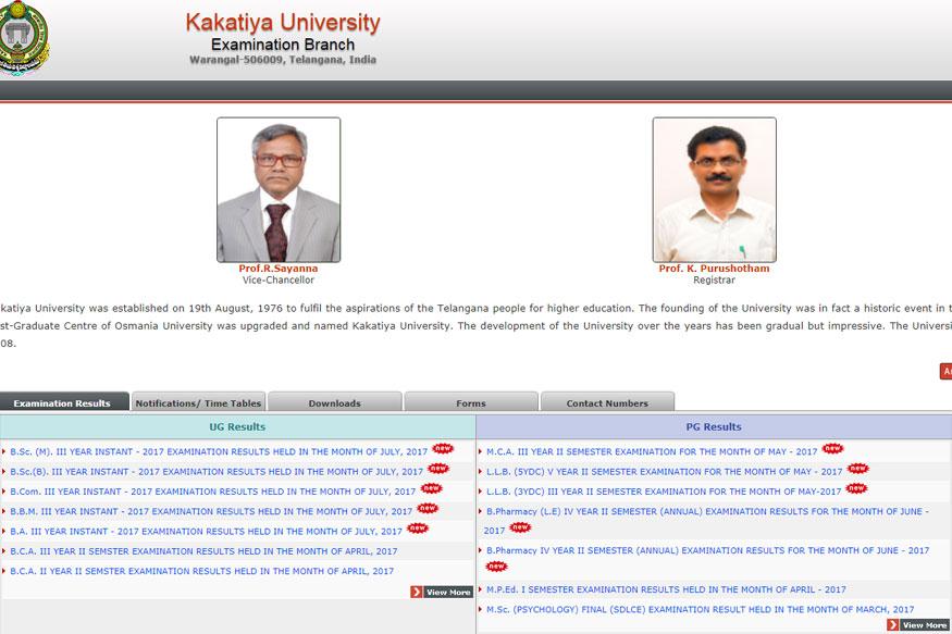 Kakatiya University Degree 2:4:6 Semester Result 2019