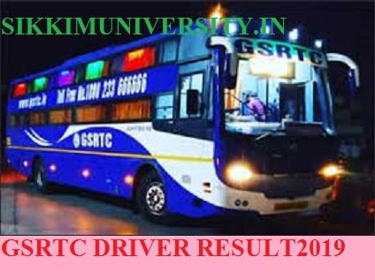 GSRTC 2249 Driver Result 2019-2020:  OJAS GSRTC Driver Merit List at ojas.gujarat.gov.in 1