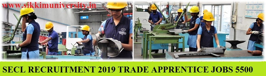 SECL 5500 Apprenticeship Bharti 2019: Apply for Various Apprenticeship Jobs @secl.gov.in 1