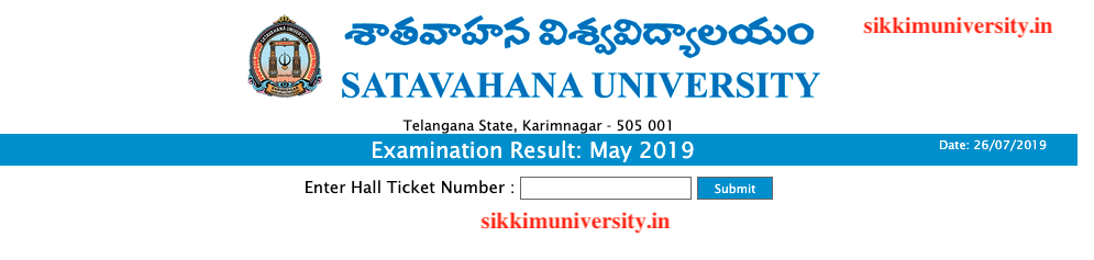 Satavahana University 2:4:6 Sem Result 2019