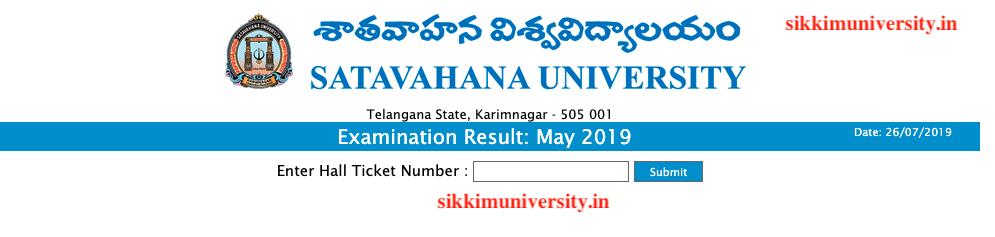 Satavahana University 2:4:6 Sem Result 2019