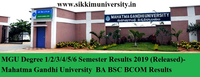 MGU Degree 1/2/3/4/5/6 Semester Results 2020 (Released)- Mahatma Gandhi University  BA BSC BCOM Results 1