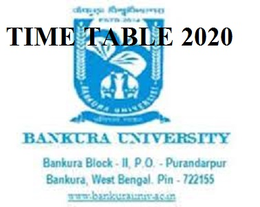 Bankura University Time Table 2021 BA BSC BCOM MA MSC Ist, 2nd, 3rd Exam Routine 2021 1
