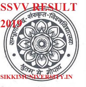 SSVV Ist, 2nd, 3rd Result 2019- Sampurnanand संस्कृत Vishwavidyalaya Result UG & PG Exam 2019 1