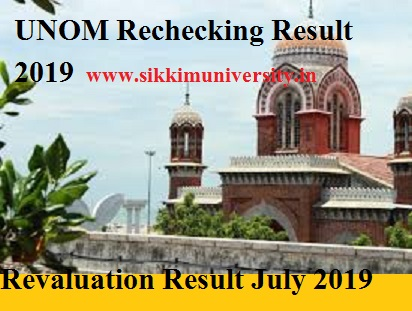 Madras University Revaluation Results 2021 - UNOM PG UG Rechecking Results at Unom.ac.in 1