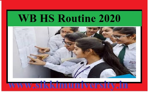 WB HS Routine 2021 West Bengal PDF WBCHSE 12th Exam Date Sheet from 12th March 1